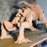 Skulptur aus gebranntem Ton - Ganzansicht hinten