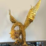 Drachen mit Flügel, vergoldet mit Blattgold