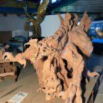 Skulptur aus gebranntem Ton - Ganzansicht vorne