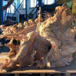 Skulptur aus gebranntem Ton - Ganzansicht seitlich